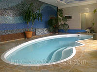 Стекловолоконный бассейн Венеция 7,50х3,50х1,00-1,70м, фото 1