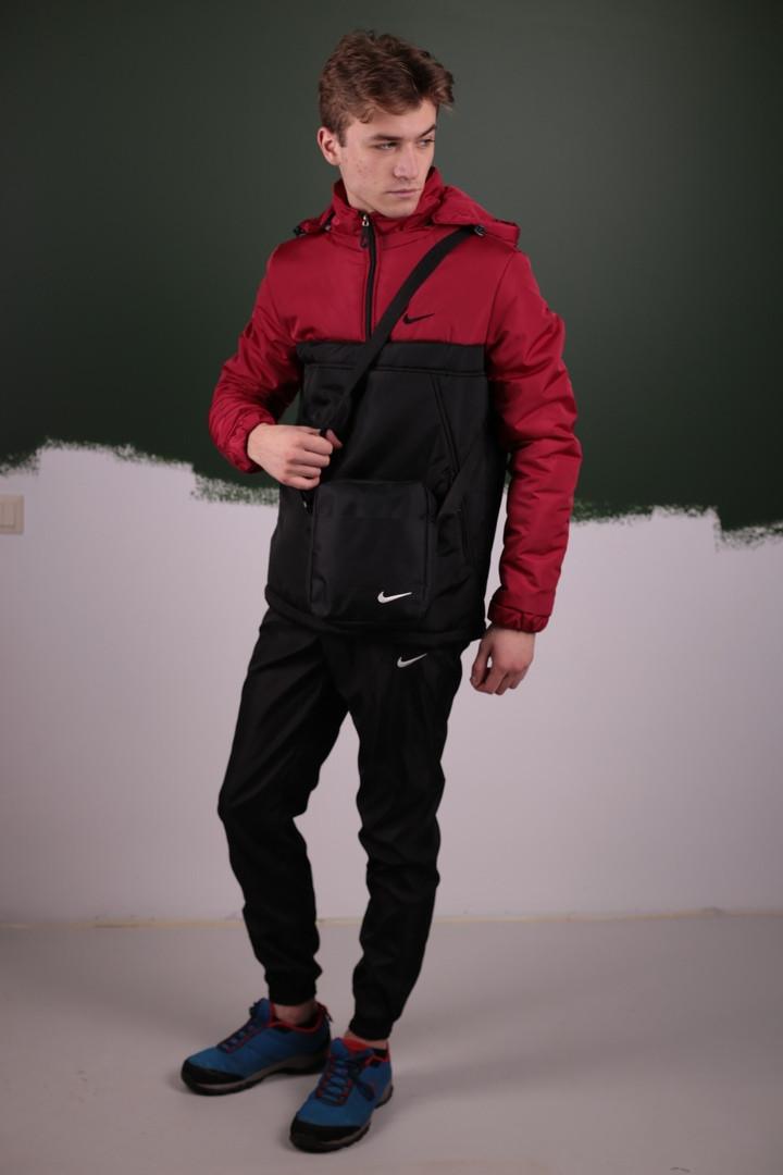Мужской весенний костюм. Анорак  Найк, Nike + Штаны  + подарок Барсетка