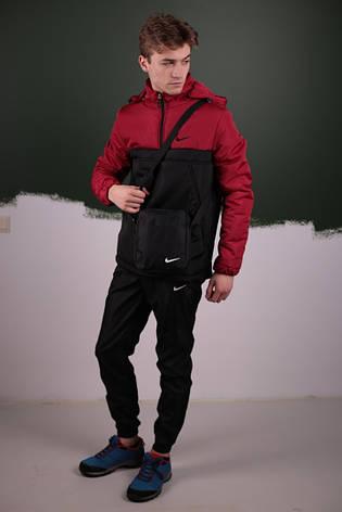 Мужской весенний костюм. Анорак  Найк, Nike + Штаны  + подарок Барсетка, фото 2