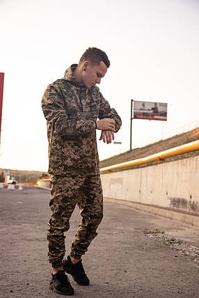 Ветровка Анорак Найк (Nike) + Штаны + Барсетка в Подарок (камуфляж пиксель) Мужской спортивный костюм, фото 2