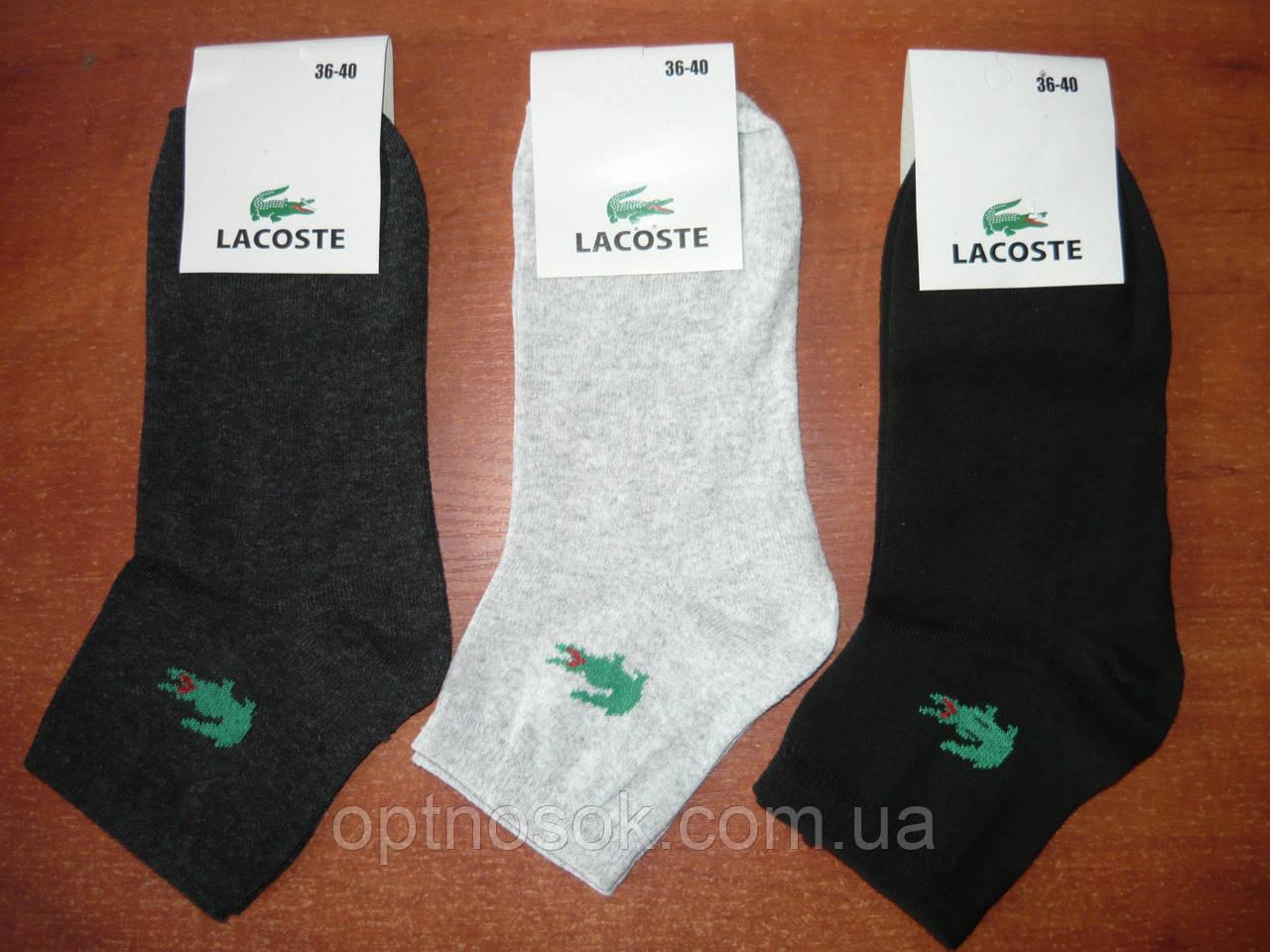 """Женские носки """"в стиле"""" """"Lacoste"""". Спорт. р. 36-40."""