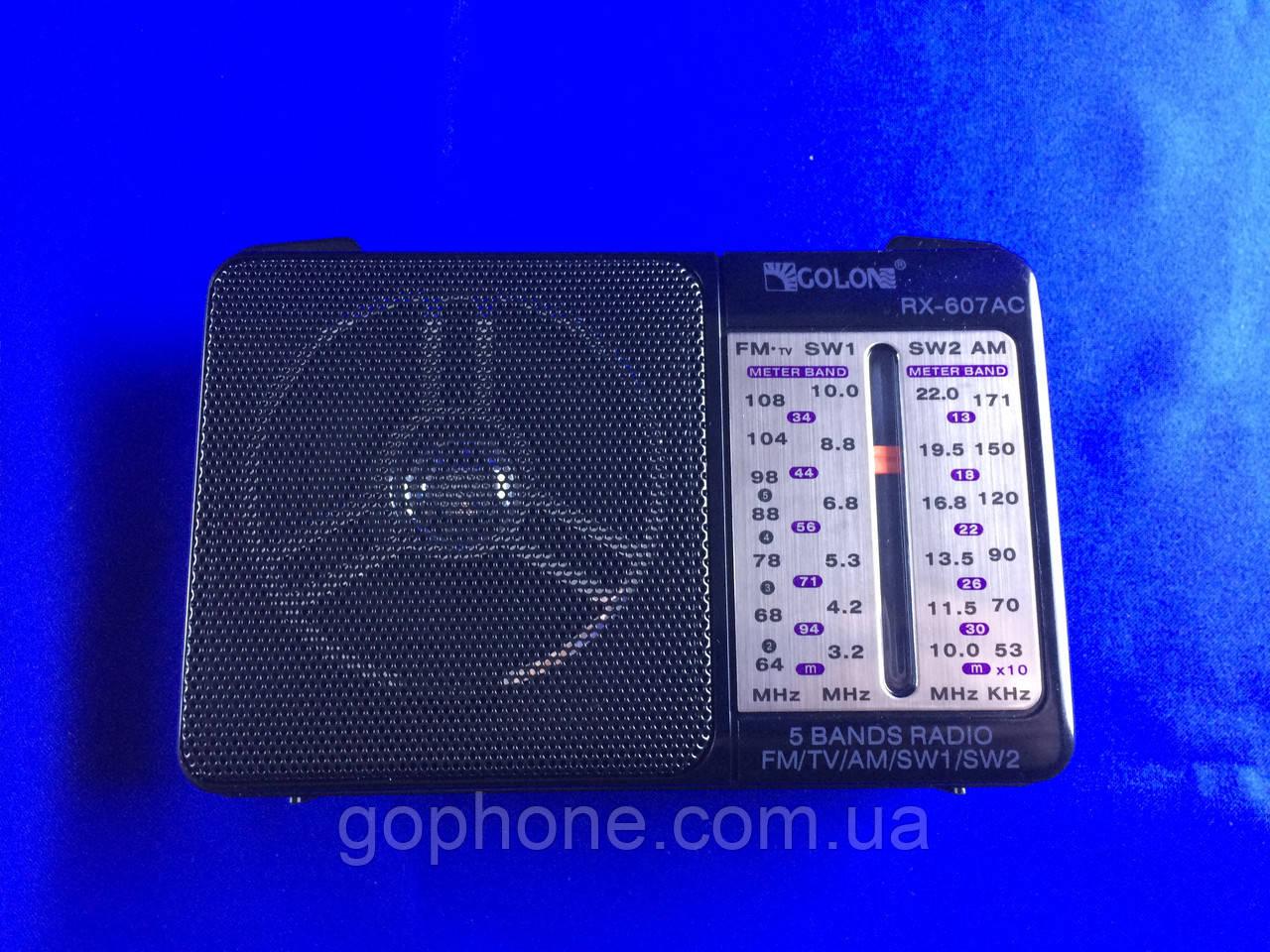 Современный Радиоприемник GOLON RX-607
