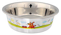 Trixie (Трикси) Stainless Steel Bowl with Plastic Coating Миска из нержавеющей стали для собак 875 мл