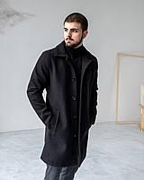 Мужское классическое черное пальто