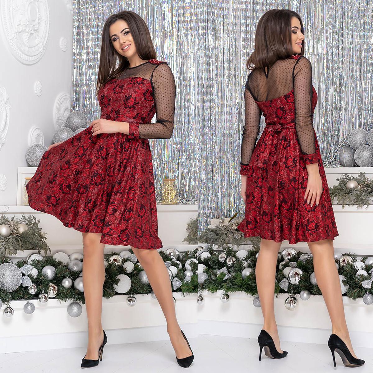 """Вечернее гипюровое платье короткое нарядное """"SOFIKO"""""""