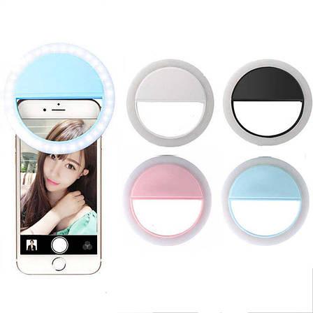 Кольцо для селфи на телефон Selfie Ring Light ЛЕД LED Лампа на Аккумуляторе RK-12 D=10 см, фото 2