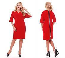 Платье  Оливия красное 50 р
