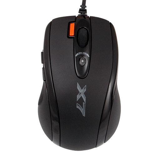 Мышь A4 X-710MK игровая, 2000dpi, USB, чёрный