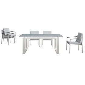 Обеденный комплект мягкой мебели OSLO  из стола и 6 кресел