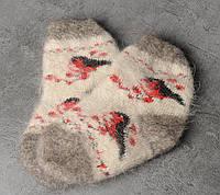 Шерстяные носки детские, носки из козьего пуха, теплые носки, зимние носочки на резинке, длина 14-18 см, фото 1