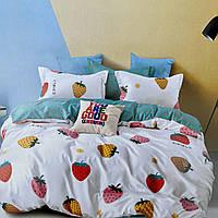 Постельное белья Двуспальное с простыню на резинке 160х200+20см. | Комплект постельного белья Фланель.