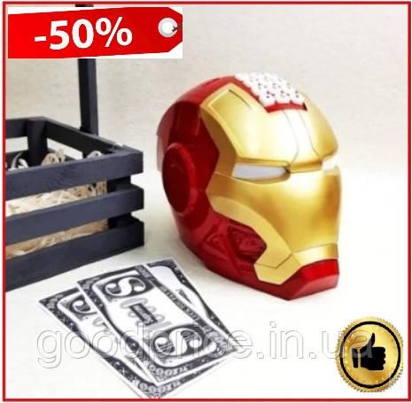 Сейф-копилка Железный человек с кодовым замком и приемником купюр, интерактивная детская игрушка копилка сейф