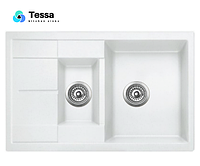 Мойка кухонная гранитная Tessa Emeli белая 41001