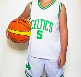 Детская баскетбольная форма CELTICS белая