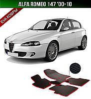 ЄВА килимки на Alfa Romeo 147 '00-10. Автоковрики EVA Альфа Ромео 147