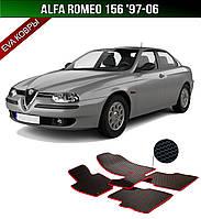 ЄВА килимки на Alfa Romeo 156 '97-06. Автоковрики EVA Альфа Ромео 156