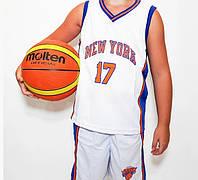 Дитяча баскетбольна форма NEW YORK біла