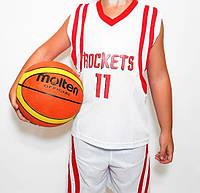 Детская баскетбольная форма ROCKETS белая