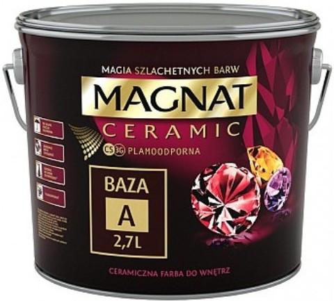 Краска керамическая для интерьеров Magnat CERAMIC база А белая матовая 2,7 л