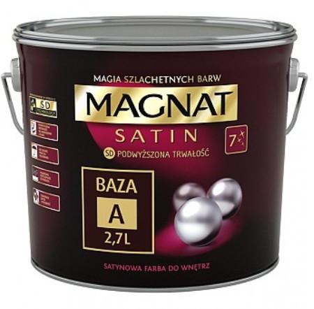 Краска сатиновое Magnat Satin База А БЕЛЫЙ сатиновый глянец 9 л