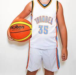 Дитяча баскетбольна форма THUNDER біла