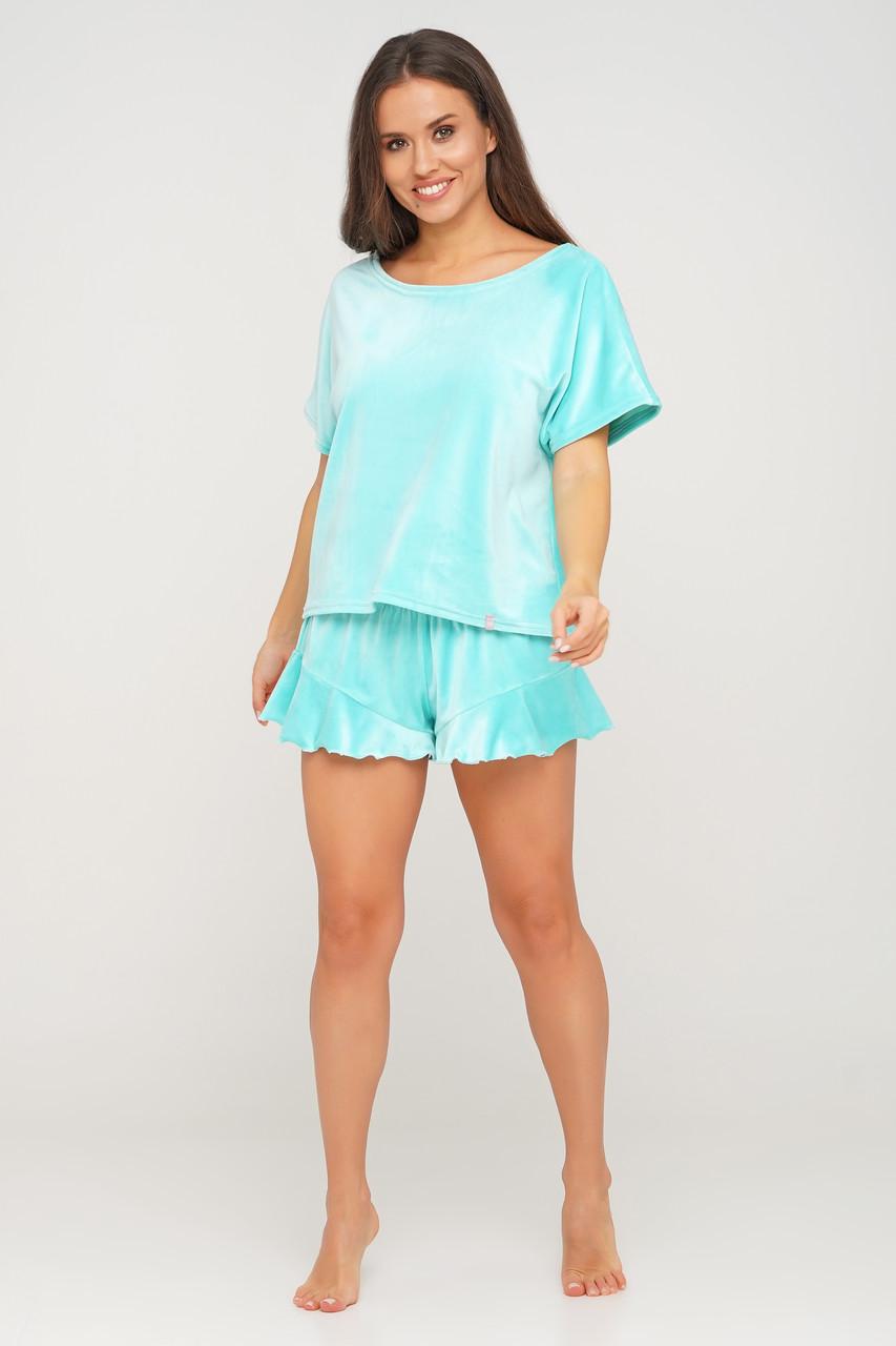 Бордовая пижама шортики и футболка TM Orli
