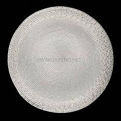 Сервировочный коврик  37,5 см, Серебристый
