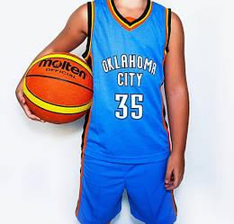 Дитяча баскетбольна форма OKLAHOMA CITY блакитна