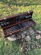 """Набор шампуров """"Вепрь"""" Gorillas BBQ в деревянной коробке, фото 3"""