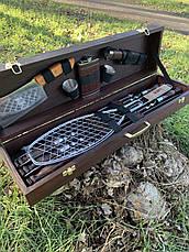 """Набор шампуров """"Медведь"""" Gorillas BBQ в деревянной коробке, фото 3"""