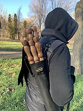 "Набор шампуров ""Калчан Ястреб"" Gorillas BBQ в кожаном чехле, фото 3"
