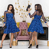 """Платье гипюровое молодежное коктейльное,вечернее """"SOFIKO"""", фото 1"""