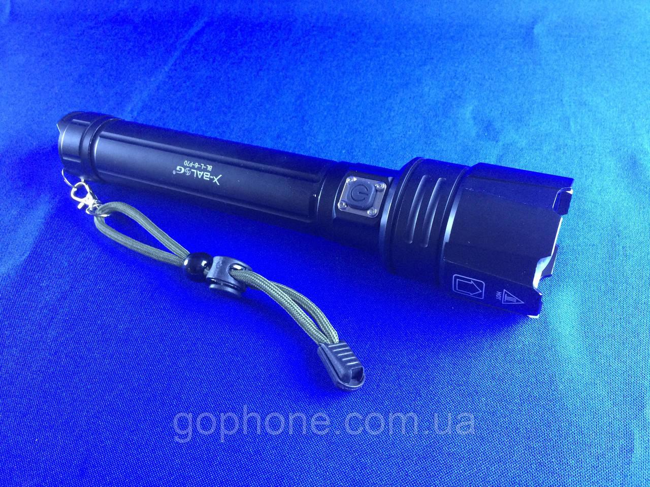 Мощный и яркий ручной фонарь BL-L6-P90 (3 режима работы)