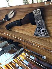 """Набор шампуров """"Рысь"""" Gorillas BBQ в деревянной коробке, фото 3"""