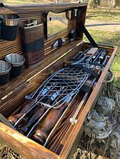 """Набор шампуров """"Леопард"""" Gorillas BBQ в деревянной коробке, фото 2"""
