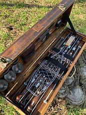 """Набор шампуров """"Леопард"""" Gorillas BBQ в деревянной коробке, фото 3"""