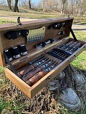 """Набор шампуров """"Лось"""" Gorillas BBQ в деревянной коробке, фото 2"""