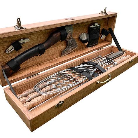"""Набор шампуров """"Пантера"""" Gorillas BBQ в деревянной коробке, фото 2"""