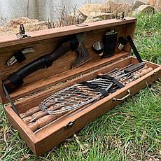 """Набор шампуров """"Пантера"""" Gorillas BBQ в деревянной коробке, фото 3"""