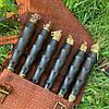 """Набор шампуров """"Индеец Рептилия"""" Gorillas BBQ в кожаном чехле, фото 4"""