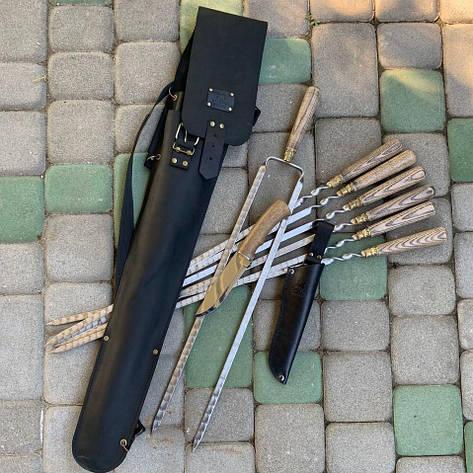 """Набор шампуров """"Калчан Чингизхан"""" Gorillas BBQ в кожаном чехле, фото 2"""