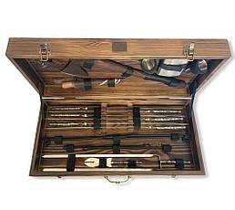 """Набор шампуров """"Мамонт"""" Gorillas BBQ в деревянной коробке, фото 2"""