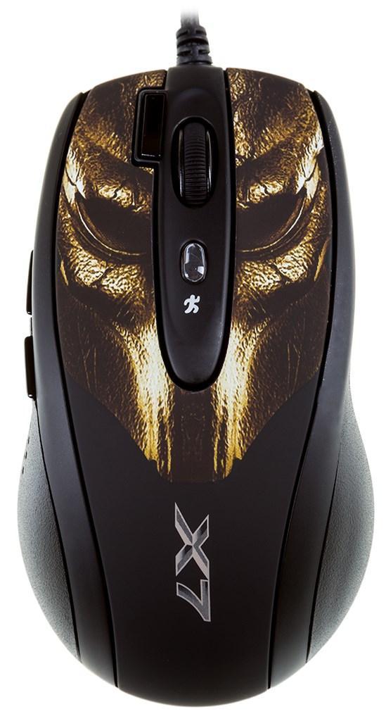Мышь A4 XL-750BH игровая, 3600dpi, USB, змеиная кожа, чёрно-коричневый