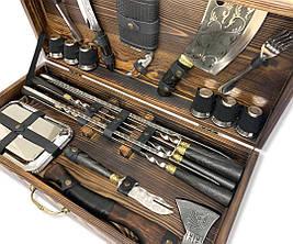 """Набор шампуров """"Носорог"""" Gorillas BBQ в деревянной коробке, фото 2"""