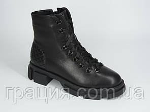 Стильні черевики зимові молодіжні з натуральної шкіри