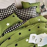 Постільну білизни Двоспальне з простирадло на гумці 160х200+20см | Комплект постільної білизни Фланель на гумі, фото 2