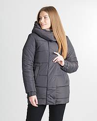 Зимова подовжена куртка Прада колір хакі, розмір 42, 44,46,50