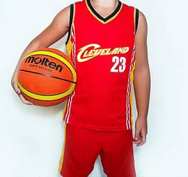 Дитяча баскетбольна форма CLEVELAND біла