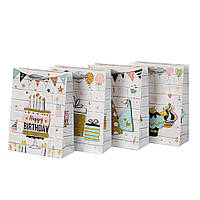 Бумажные подарочные пакеты микс