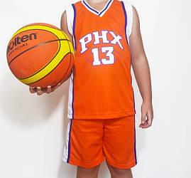 Детская баскетбольная форма SUNS оранжевая
